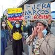 ??  ?? Decenas de ciudadanos protestan en Colombia.