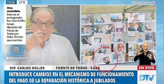 ??  ?? Otro escándalo. Esta vez el protagonsita fue Juan Emilio Ameri, diputado del Frente de Todos por Salta. Se tuvo que marchar.