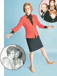 ??  ?? Carol Burnett has worked with the greats, including Lucille Ball (inset left) and Tim Conway, Vicki Lawrence and Harvey Korman.