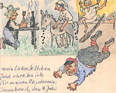 ?? ABBILDUNG AUS DEM BUCH ?? Eine Karte von Dora Fritsche aus dem Jahr 1987