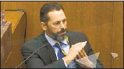 ?? Pool Photo ?? MINNEAPOLIS POLICE instructor Lt. Johnny Mercil testified about use-of-force training.