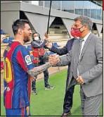 ??  ?? Messi y Joan Laporta.