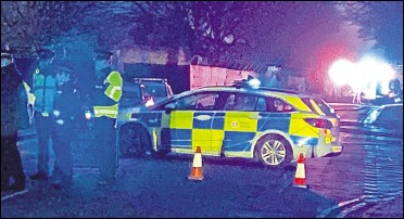 ?? Picture: Barry Goodwin ?? Police closed the road outside the barracks on Friday