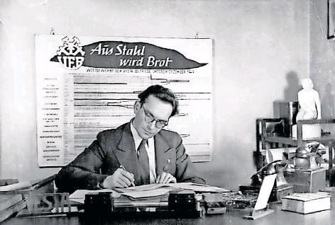 ?? Foto: Nachlass Hasso Grabner ?? Der gelernte Buchhändler Hasso Grabner war Direktor der Ddr-stahlwerke.