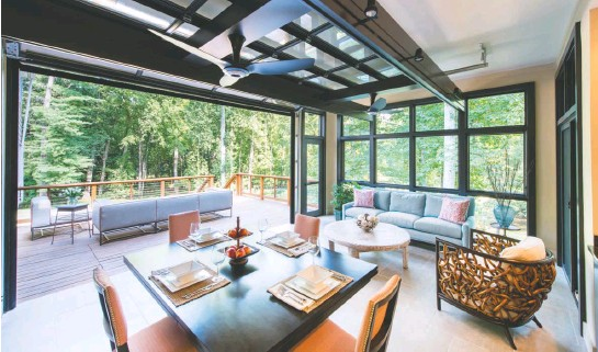 ?? JOHN COLE ?? Outdoor spaces have been trendy lately, Wilder says. To make them multifunctional, he suggests adding heated floors and ceiling fans.