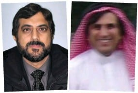 ??  ?? Unmasked: Mahmood's mugshot, left, and a photo from the 1990s