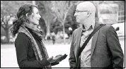 ?? Courtesy, Burns Film Ltd. ?? Liane Balaban, left, and Paul Ahmarani star in The Future is Now!, a film by Calgary director Gary Burns.