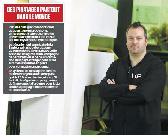 ?? PHOTO D'ARCHIVES ?? Le cofondateur du Hackfest et expert en sécurité informatique Patrick Mathieu indique que les gouvernements québécois et canadien sont à risque de vivre des attaques informatiques durant la pandémie, vu l'augmentation des tentatives dans le monde.