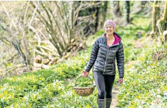 ??  ?? i Foraging for plants like wild garlic has helped Clare supplement her British-only diet