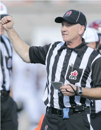 ?? POSTMEDIA FILES ?? Under the NFL-CFL Officiating Development Program, a group of National Football League officials will work as part of CFL crews during pre-season and regular-season games in June and July.
