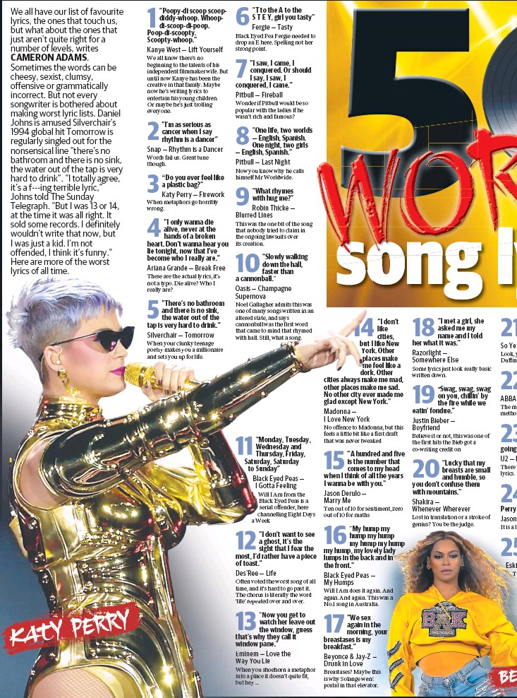 Pressreader The Sunday Telegraph Sydney 2018 06 03 Worst Song