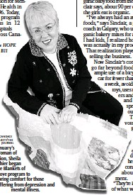 ?? CANDACE ELLIOTT/THE JOURNAL ?? January's Woman of Vision, Sheila Ethier began the Blankets of Love program to bring comfort for those suffering from depression and mental illness.