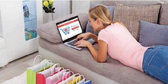 ?? / FOTOS: DREAMSTIME ?? Comodidad. Puedes comprar todo lo que quieras sin salir de casa.