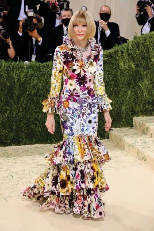 ?? (Getty) ?? Wintour wore Oscar de l a Renta