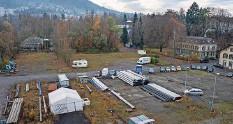 ?? Archivfoto: Franziska Rothenbühler ?? Hier soll ein neues, lebendiges Stadtquartier entstehen: Das Gaswerkareal an der Aare.