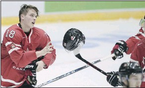 ?? — THE ASSOCIATED PRESS FILES ?? Team Canada's Jake Virtanen will be reporting to the Canucks initially following the world junior tournament. His future for the rest of this season, however, is up in the air