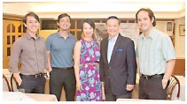 ?? PHOTOGRAPHS COURTESY OF FB/JOSEMARICHAN ?? JOSE Mari Chan (below) with children Franco, Joe, Liza and Michael.