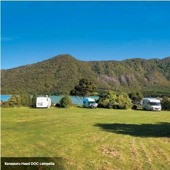 ??  ?? Kenepuru Head DOC campsite