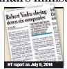 ??  ?? HT report on July 8, 2014