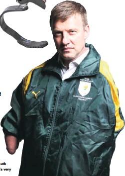 ??  ?? Pieter Badenhorst – Olympics & Paralympics Ambassador – TSAM, a South African legend and Toyota's very own former Paralympian.