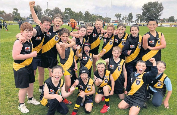 ??  ?? Rochester has taken out another school sports grand final at last week's Campaspe Boys Football Carnival.