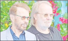 ?? — AFP file photo ?? Bjorn Ulvaeus and Benny Andersson arrive for the world premiere of the film 'Mamma Mia! Here We Go Again' in London on July 16, 2018.