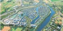 ??  ?? The Te Awa Lakes project will create a new community near Hamilton.