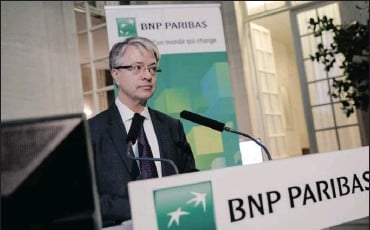 ?? PHOTO: BLOOMBERG ?? Jean-Laurent Bonnafe is the chief executive of BNP Paribas. The bank's real estate subsidiary, which has operations in 16 countries, was one of the companies affected by a global cyber attack.