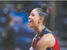 ?? SCOTT TAETSCH FOR THE WASHINGTON POST ?? Natasha Cloud and her Mystics teammates made history in 2019 with their first WNBA title, but the past two years have been rough.