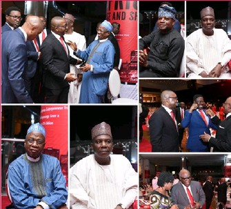 ??  ?? Dignitarie­s at the book launch Picture Credits: Zenith Bank