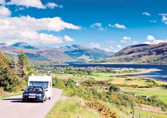 ??  ?? iThe Scottish Highlands: you don't need a fancy caravan if you're in the right location
