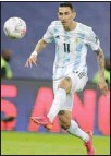 ??  ?? Argentina's Angel Di Maria scores the opening goal against Brazil during the Copa America final soccer match at the Maracana Stadium in Rio de Janeiro, Brazil. (AP)