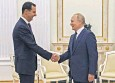 ??  ?? Vladimir Putin used his Kremlin meeting with Bashar al-assad to test Joe Biden