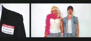 ??  ?? Sharlene Bamboat and Alexis Mitchell's video is a mock love letter to Jason Kenney.