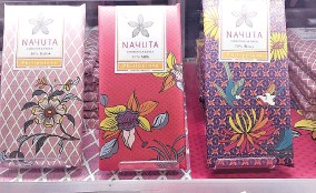 ??  ?? NAYUTA Chocolatasia, which are made from cacao beans from the Philippines and three Southeast Asian countries, is currently sold at Isetan department stores in Japan.