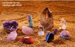 ??  ?? Gemstones for the Celestial Light Ritual