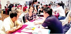??  ?? The EduQuest Education Fair drew more than 500 visitors at Pacific Sutera Harbour yesterday.