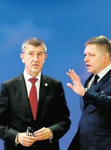 ?? Foto: Profimedia.cz ?? Na summitu Premiér Andrej Babiš se na jednání v Bruselu setkal i se svým slovenským protějškem Robertem Ficem.