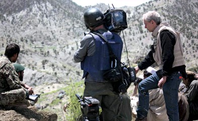??  ?? IN THE THICK OF THINGS The author on the Afghan frontier with Pakistan in 2014 while on an embed with Afghan forces who had just taken a village from the Taliban. Loyn has been covering events in the area since 1996 when the Taliban took Kabul the first time.