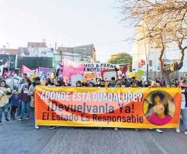 ?? Gentileza Cadena 3 ?? El reclamo por Guadalupe, en la 9ª marcha.