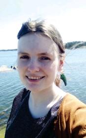 ?? FOTO: PRIVAT ?? Christina Elgerts doktorandforskning får stöd från Maj och Tor Nesslings stiftelse. Elgert siktar på att disputera om två år.
