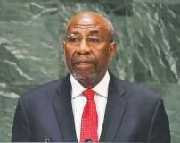 ?? ANGELA WEISS/AGENCE FRANCE-PRESSE/GETTY IMAGES ?? Ruhakana Rugunda, former prime minister of Uganda
