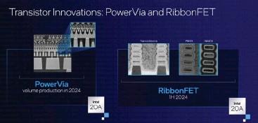 ??  ?? Intel's new Powervia and Ribbonfet technologies.
