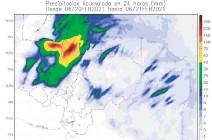 ??  ?? Una masa de aire frío débil ingresará este día al país y va a provocar fuertes lluvias en algunas regiones.