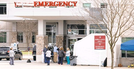 ?? TNS FILE PHOTO ?? Pennsylvania hospitals are better positioned to handle the second wave of the coronavirus.