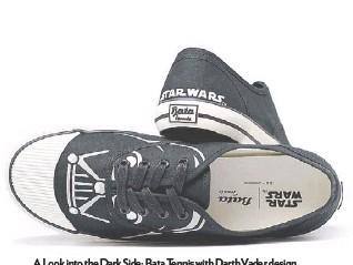 ??  ?? A Look into the Dark Side: Bata Tennis with Darth Vader design