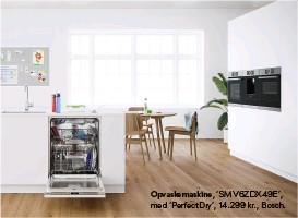 ??  ?? Opvaskemaskine, 'SMV6ZDX49E', med 'Perfectdry', 14.299 kr., Bosch.