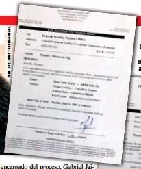 ??  ?? Estas son las solicitudes de visita que tramitó el abogado del Tuso, Manuel J. Retureta, para los encuentros de los senadores Piedad Córdoba e Iván Cepeda a cárceles de Estados Unidos. No iban en misión oficial.