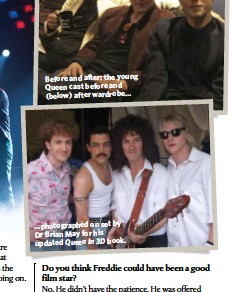 ??  ?? …photographed on set by Dr Brian May for his updated Queen In 3D book.