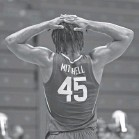 ?? AMY KONTRAS/USA TODAY SPORTS ?? Davion Mitchell and the Baylor Bears experienced their first loss of the season, in their second game back after a three-week pause for COVID-19.